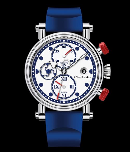 Sau những chiếc đồng hồ dress watch lịch sự, Speake-Marin cho ra mắt bộ sưu tập Spirit mới, những chiếc đồng hồ mang phong cách thể thao dành cho quý ông. Không giống với các đồng hồ thể thao hầm hố thường thấy, vẻ thanh lịch vốn có của Speake-Marin vẫn thể hiện rõ ở bộ vỏ Picaddilly cổ điển, chữ số La Mã, bộ kim Foudation đặc trưng và kim giây topping tool tuyệt đẹp.Phiên bản Speake-Marin New Blue Seafire giới hạn 28 chiếc trên toàn thế giới với điểm nhấn là nút chronograph đỏ đậm, giá bán 232 triệu đồng.