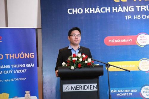 : Anh Nguyễn Lê Vinh - PGD chi nhánh Dịch vụ đa phương tiện và Giá trị gia tăng.