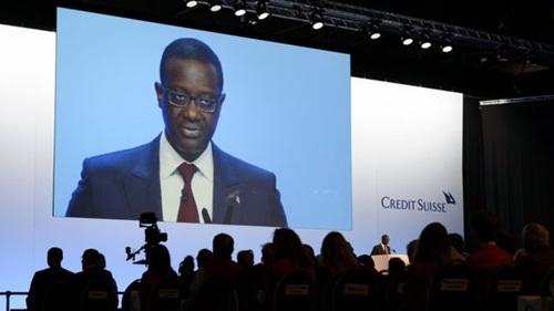 CEO Credit Suisse - Tidjane Thiam muốn giúp ngân hàng có lãi năm nay. Ảnh: AFP