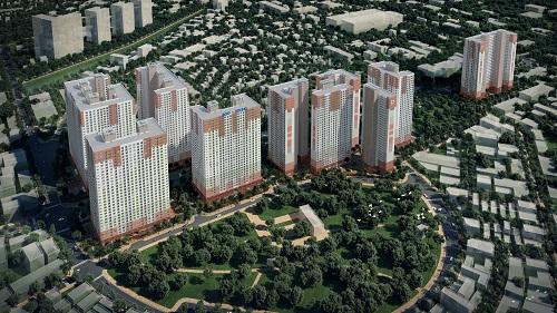 Những căn hộ đầu tiên của tổ hợpBooyoung Vina sẽ chào bán vào 14/6 tới.