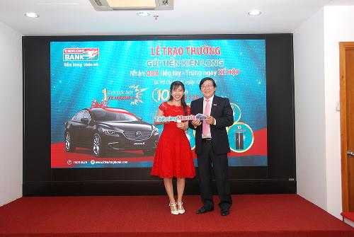 Kienlongbank trao thưởng xe Mazda cho khách hàng may mắn - ảnh 1