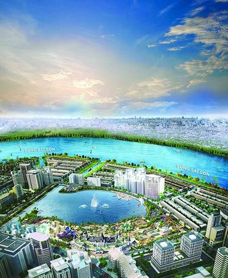 Phối cảnh công viên giải trí tầm cỡ quốc tế Ocean World Ho Chi Minh lần đầu tiên xuất hiện và nằm trọn trong lòng khu đô thị Vạn Phúc.