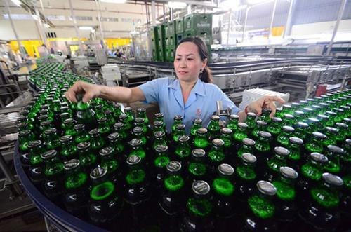 doanh thu ban bia cua sabeco giai doan nua dau nam 2017 tang 5,5% so voi cung ky.