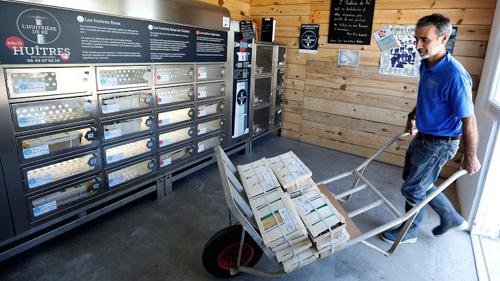 Máy bán hàu tự động tại Pháp