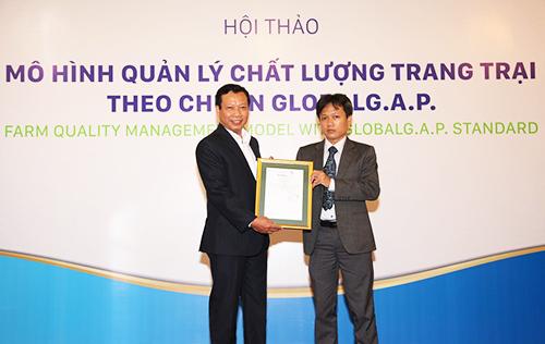 Việt Nam có trang trại nuôi heo đầu tiên đạt chuẩn GlobalG.A.P