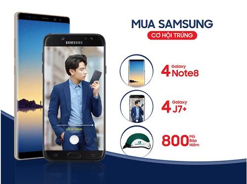 Khách mua điện thoại Samsung có cơ hội trúng Galaxy Note 8
