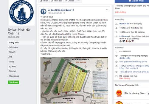 Quận ven Sài Gòn cảnh báo nạn lừa bán đất quy hoạch cây xanh