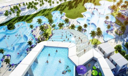 Bể bơi 3 tầng tại dự án nghỉ dưỡng bên bờ Bãi Dài