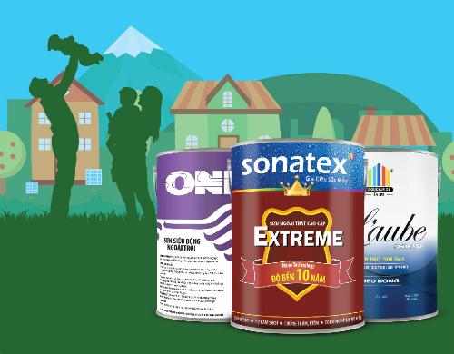 Các thương hiệu sơn của công ty điều ứng dụng theo công nghệ Châu Âu.