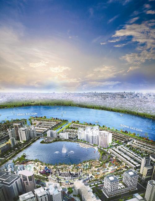 Khu đô thị Vạn Phúc đề cao yếu tố thiên nhiên trong quy hoạch