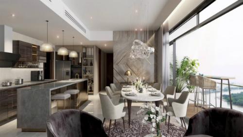 Phối cảnh căn hộ Q2 THAO DIEN có tầm nhìn ra sông Sài Gòn, thiết kế hiện đại, tinh tế. Liên hệ: http://www.q2thaodien.com.vn|+84 888 988 800