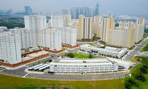 Giá đất quanh khu tái định cư Bình Khánh cao nhất 150 triệu đồng mỗi m2. Ảnh: Quỳnh Trần 150 triệu đồng mỗi m2 đất gần khu tái định cư lớn nhất Sài Gòn