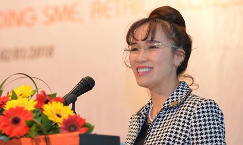Bà Nguyễn Thị Phương Thảo - Phó chủ tịch HDBank cho biết đặt mục tiêu tăng 37% lợi nhuận mỗi năm. Ảnh: B.M.