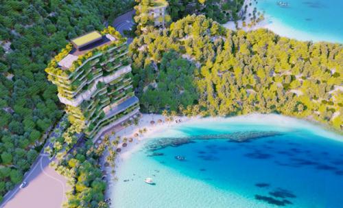 Flamingo Cát Bà Beach Resort sở hữu vị trí đẹptọa sơn hướng hải với bãi biển Cát Cò 1 và Cát Cò 2.