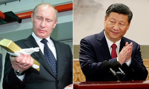 Nga, Trung Quốc tích cực tăng dự trữ vàng trong những năm gần đây. Ảnh: RT