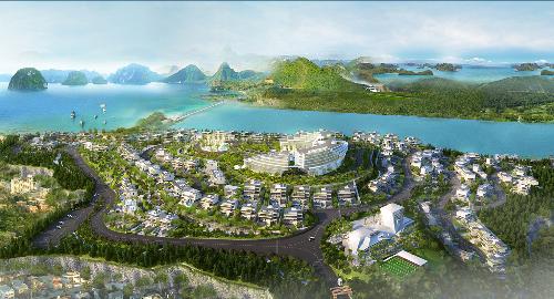 Hạ Long Monaco triển khai khu nghỉ dưỡng trên đồi hướng biển