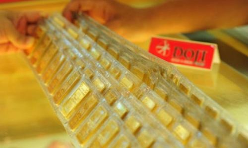 Giá vàng trong nước tăng vài chục nghìn đồng mỗi lượng sáng nay. Ảnh: PV.