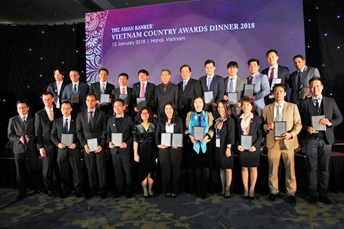 Những ngân hàng thắng giải trong sự kiện thường niên The Asian Banker Vietnam Country Awards của TAB.