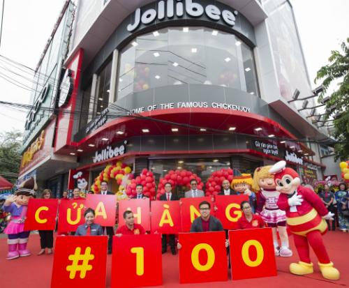 Với cửa hàng thứ 100 tại Việt Nam, Jollibee tiếp tục củng cố vị thế là một trong những thương hiệu thức ăn nhanh lớn nhất trên cả nước.
