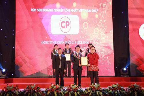 C.P. Việt Nam vào Top 500 doanh nghiệp lớn nhất 2017