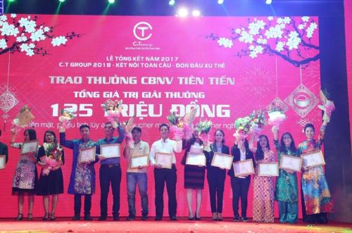 C.T Group thưởng Tết 1,3 tỷ đồng cho nhân viên