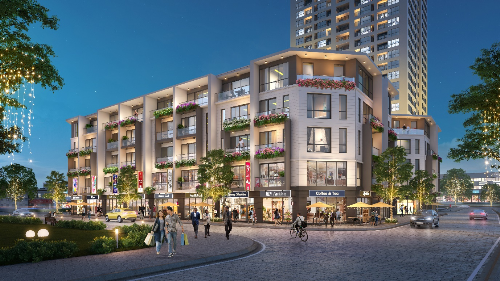 Shophouse T&T DC Complex có kiến trúc mở hiện đại.