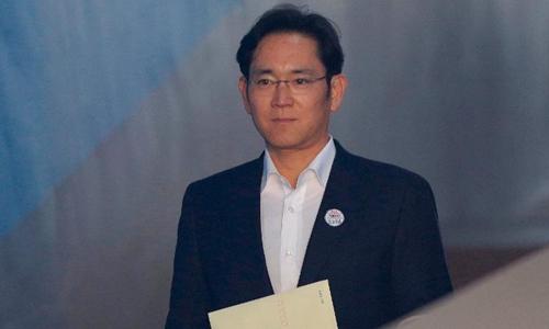 Ông Lee Jae-yong được hưởng án treo trong vòng4 năm. Ảnh: AP