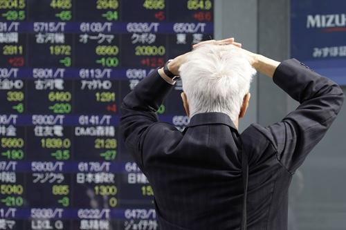 Chứng khoán Nhật Bản giảm mạnh nhất châu Á sáng nay. Ảnh: Bloomberg