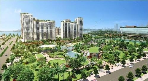Dự án có 100.000 m2 cây xanh giữa lòng bán đảo Thủ Thiêm