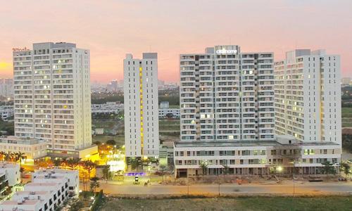 Những block căn hộ bình dân giá phổ biến 1,1-1,3 tỷ đồng/căn có sức tiêu thụ tốt tại quận 2, TP HCM. Ảnh: Hao Bui