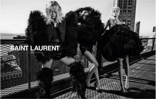 Cá tính táo bạo và phá cách của Saint Laurent thể hiện qua các poster.