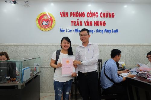 Khu dân cư Phùng Hưng ký công chứng chuyển nhượng quyền sử dụng đất