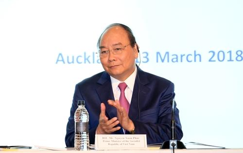 Thủ tướng tham dự Diễn đàn Doanh nghiệp Việt Nam - New Zealand. Ảnh: VGP