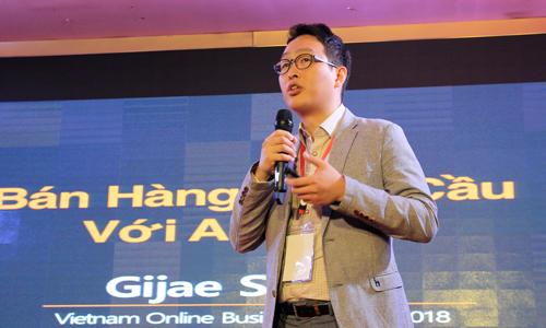 Ông Gijae Seong - Trưởng bộ phận bán hàng toàn cầu của Amazon tạiSingapore. Ảnh: Anh Tú