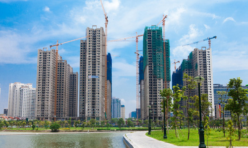Chung cư An Bình City dự kiến được bàn giao tòa đầu tiên vào tháng 4/2018. Ảnh: An Bình City