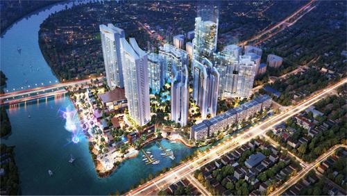 Kenton Node Hotel Complex gồm căn hộ cao cấp, khách sạn 5 sao, khu vực tiện ích và giải trí, tổng mức đầu tư hơn một tỷ USD.