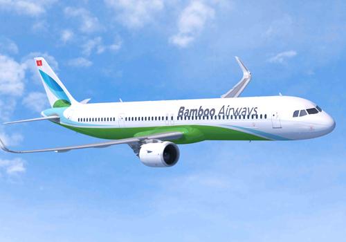 FLC công bố nhãn hiệu và màu sơn máy bay của hãng Bamboo Airways. Ảnh: Xuân Hoa.