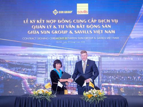 Sun Group chọn Savills Việt Nam vận hành tổ hợp 5 sao tại Hà Nội