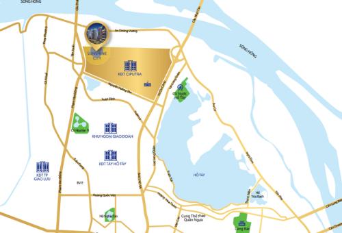 Nhiều dự án lớn triển khai, bất động sảntrục Nhật Tân - Nội Bài hưởng lợi