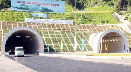 Hầm đường bộ Đèo Cả được đưa vào sử dụng từ tháng 9/2017.