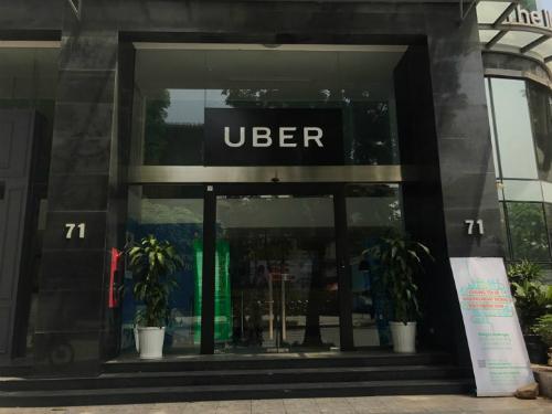 Văn phòng Uber tại Hà Nội ra thông báo ngày 8/4 là ngày cuối cùng Uber hoạt động tại Việt Nam. Ảnh: Anh Tú