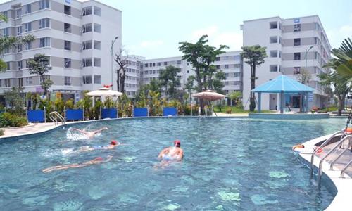 Một chung cư nhà ở xã hội tại Gia Lâm, Hà Nội.