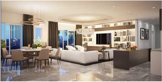 Không gian sống đẳng cấp tại căn penthouse trên cao Topaz Twins