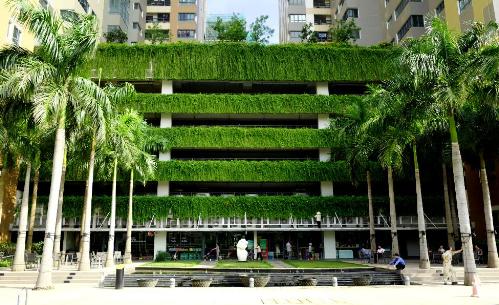 Bãi đỗ xe nổi phủ xanh của chủ đầu tư CapitaLand - Hoàng Thành