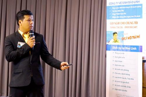 Anh Nguyễn Minh Đoan trong một lần chia sẻ kinh nghiệm về khởi nghiệp.