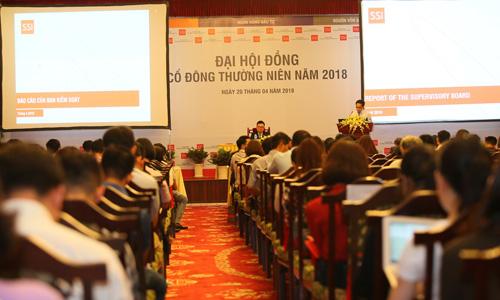Đại hội cổ đông thường niên của SSI năm 2018. Ảnh: H.T
