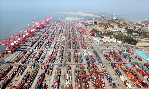Cảng Yangshan trong Shanghai Free Trade Zone. Ảnh: News.cn