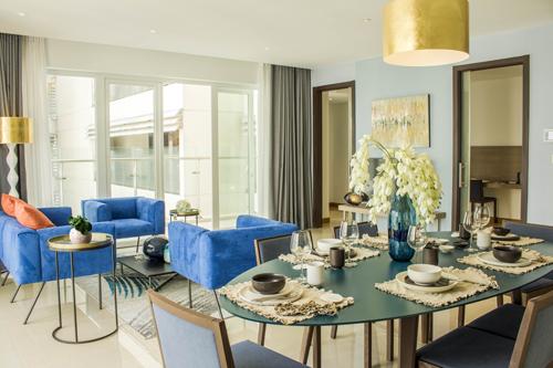 Hai phong cách thiết kế căn hộ ấn tượng tại tòa tháp Brilliant của Diamond Island