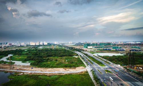 3 tuyến đường có giá đất cao nhất Thủ Thiêm lần lượt là Trần Não, Lương Định Của và Mai Chí Thọ. Ảnh: Lucas Nguyễn