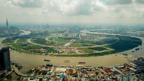 Giá đất Thủ Thiêm cao nhất gần 210 triệu đồng mỗi m2